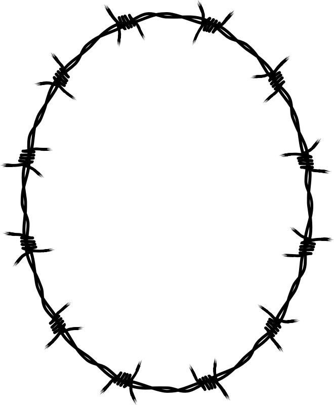 Borders And Frames Barbed Wire Drawing Fence.