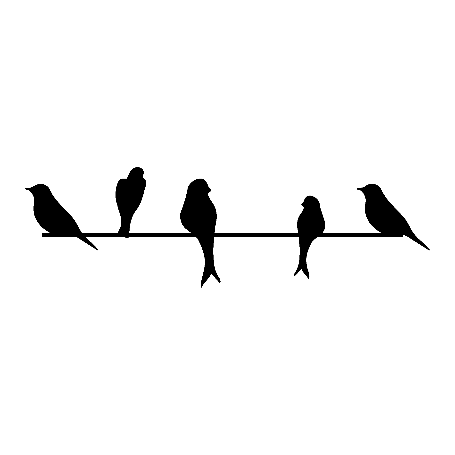 Bird Wall decal Sticker.