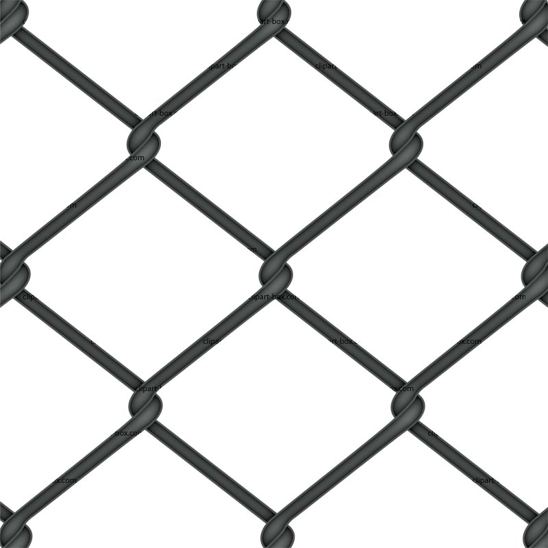 Clip art of chain link fence.