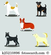 Wire haired fox terrier Clip Art EPS Images. 5 wire haired fox.