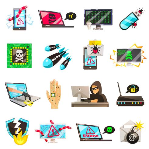 Computer Criminal Icons Collection.