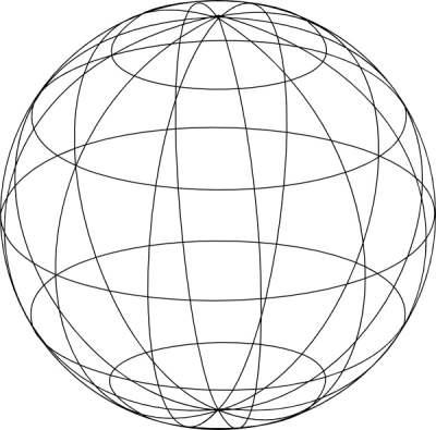 Wire globe PNG.