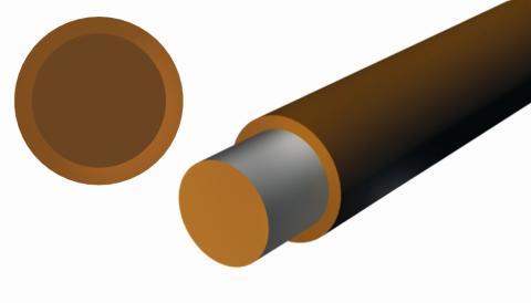 """Basic (1 layer), DuPont™ Tefzel® ETFE Insulation, .003"""", Single."""