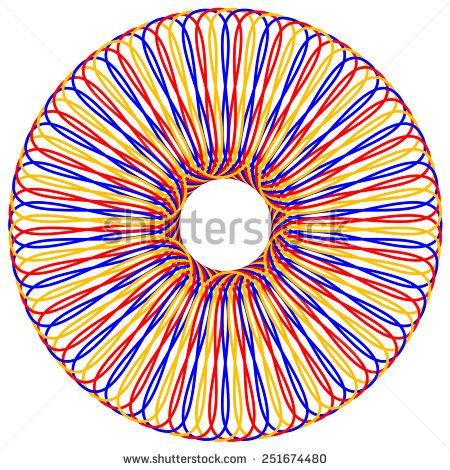 Vector Illustration Colored Geometric Eye Optical Stock Vector.