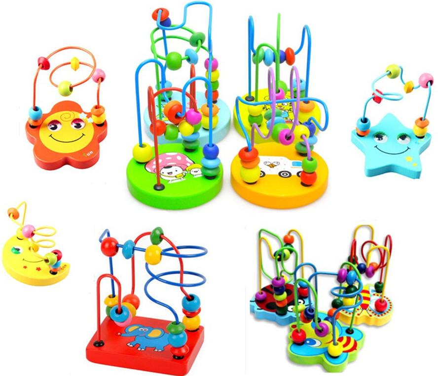 Aliexpress.com : Buy NEW HOT Baby wooden toy Mini around beads.