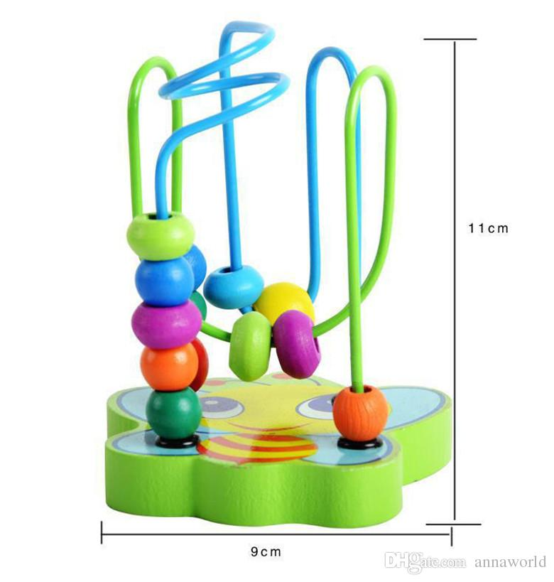 Discount Summer Wholesale Baby Wooden Mini Around Beads Wire Maze.