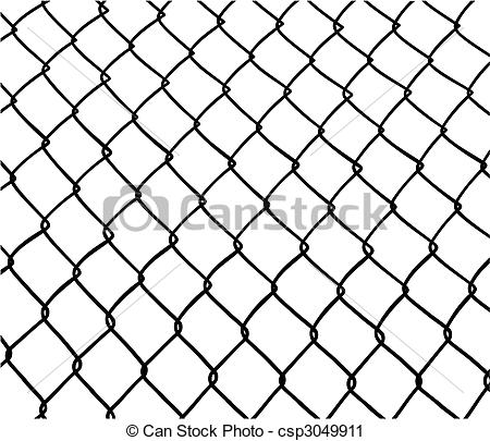 Vector Clip Art of Chain Link Fence.