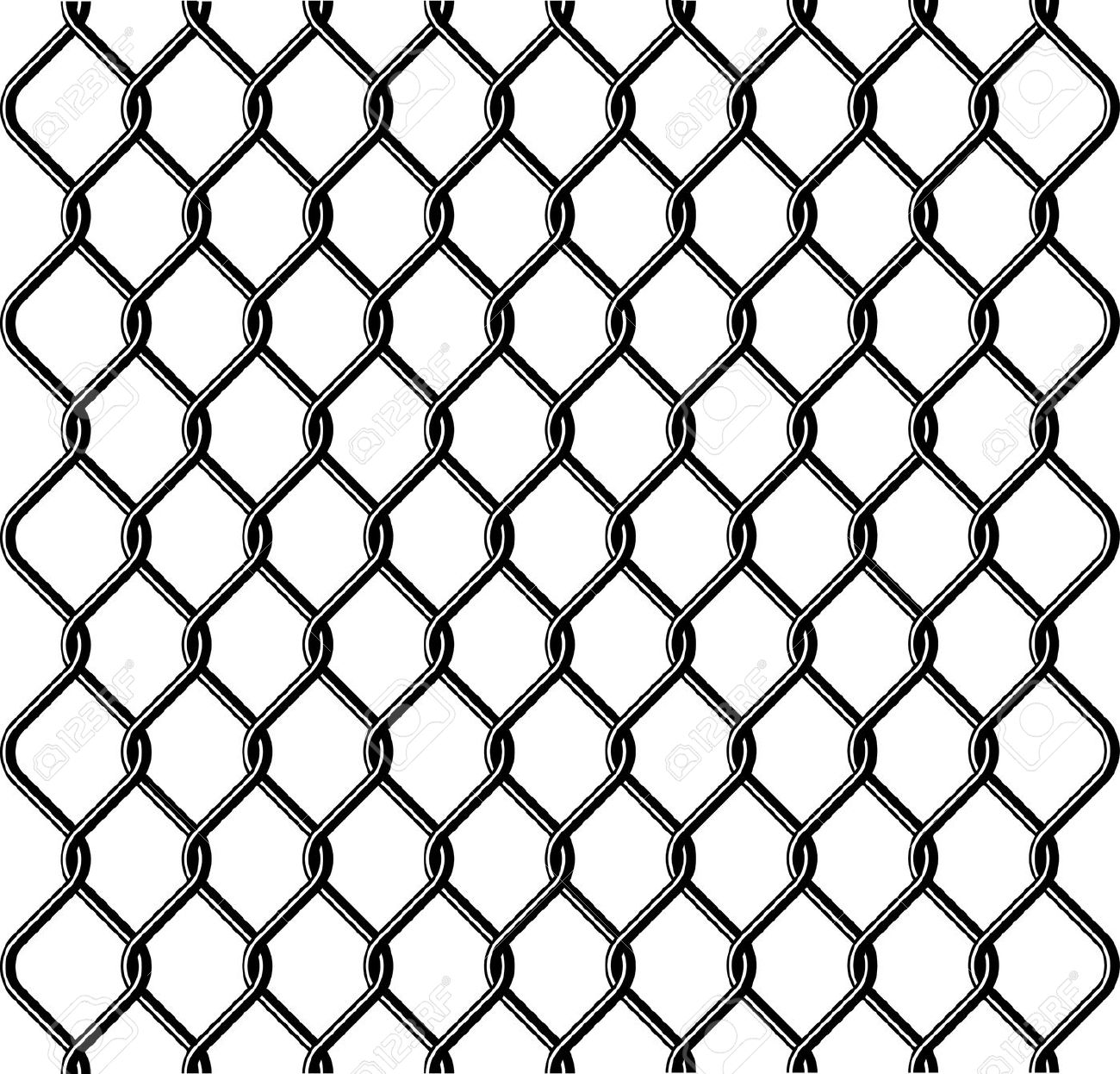 Mesh wire fence clipart #14