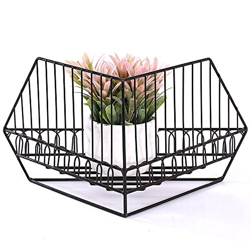 Ikee Design® 2 Piece Set. Metal Wire Stackable Corner Storage Organize.