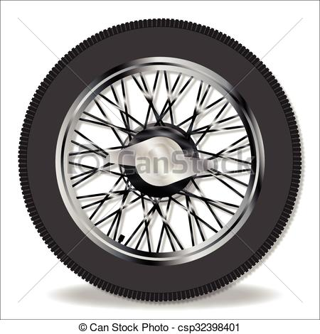 Vector Clipart of Knock On Wire Wheel.