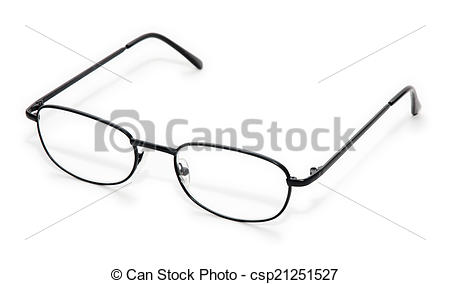 Stock Photo of Wire Rim Glasses.