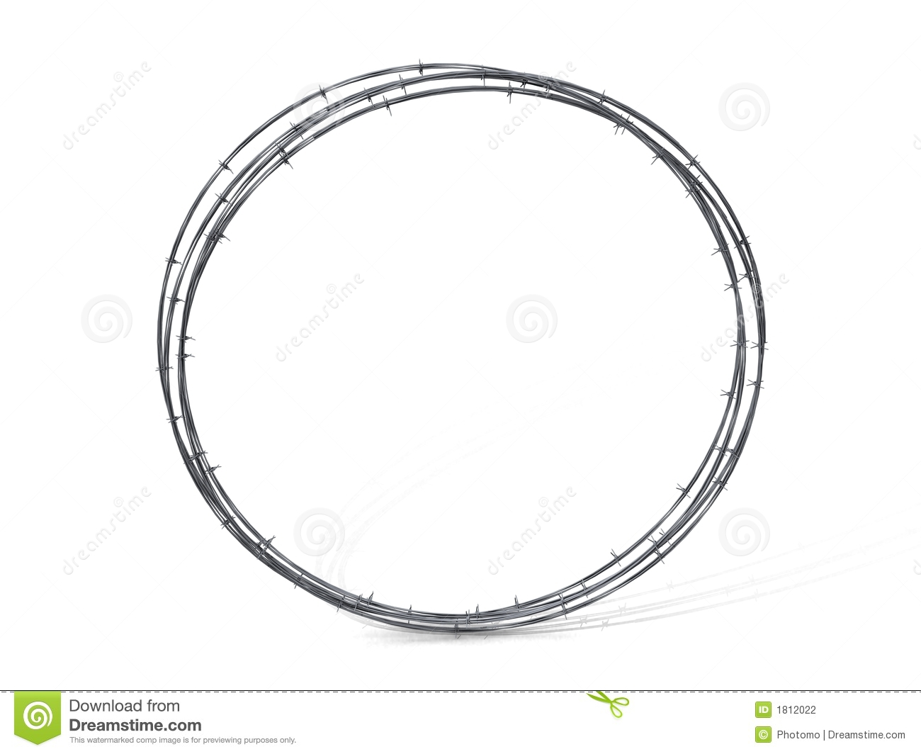 Barbed Wire Circle Clip Art.