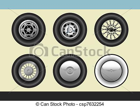 EPS Vector of Retro car wheels.