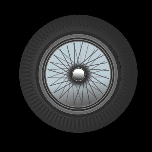 Classic car wheel Clipart, vector clip art online, royalty free.