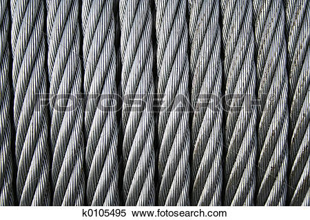 Stock Image of coiled wire rope 2 k0105495.