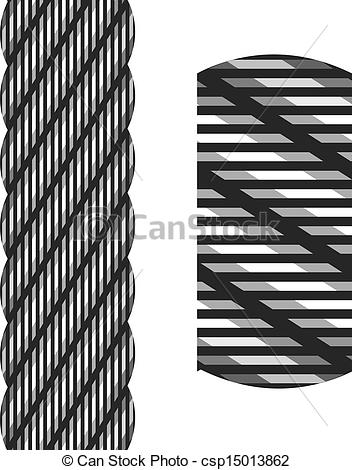 Clip Art Vector of vector wire steel rope seamless csp15013862.