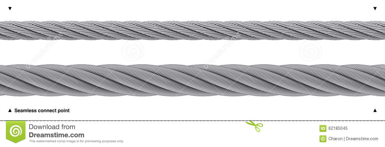 Seamless Steel Cable Repeatable Wire Rope Stock Photo.