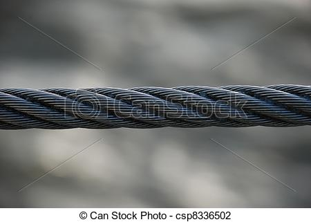 Stock Photo of Wire rope.