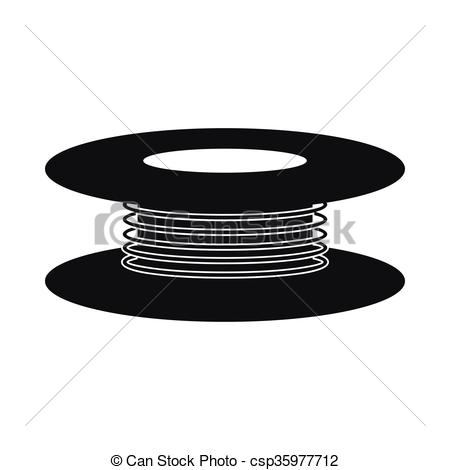 Vector Clip Art of Wire spool icon, simple style.