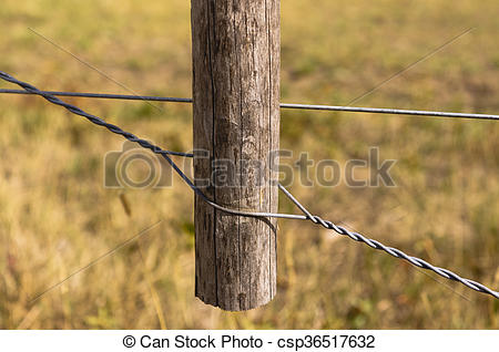 Stock Photos of Twitch stick fence wire tightener.