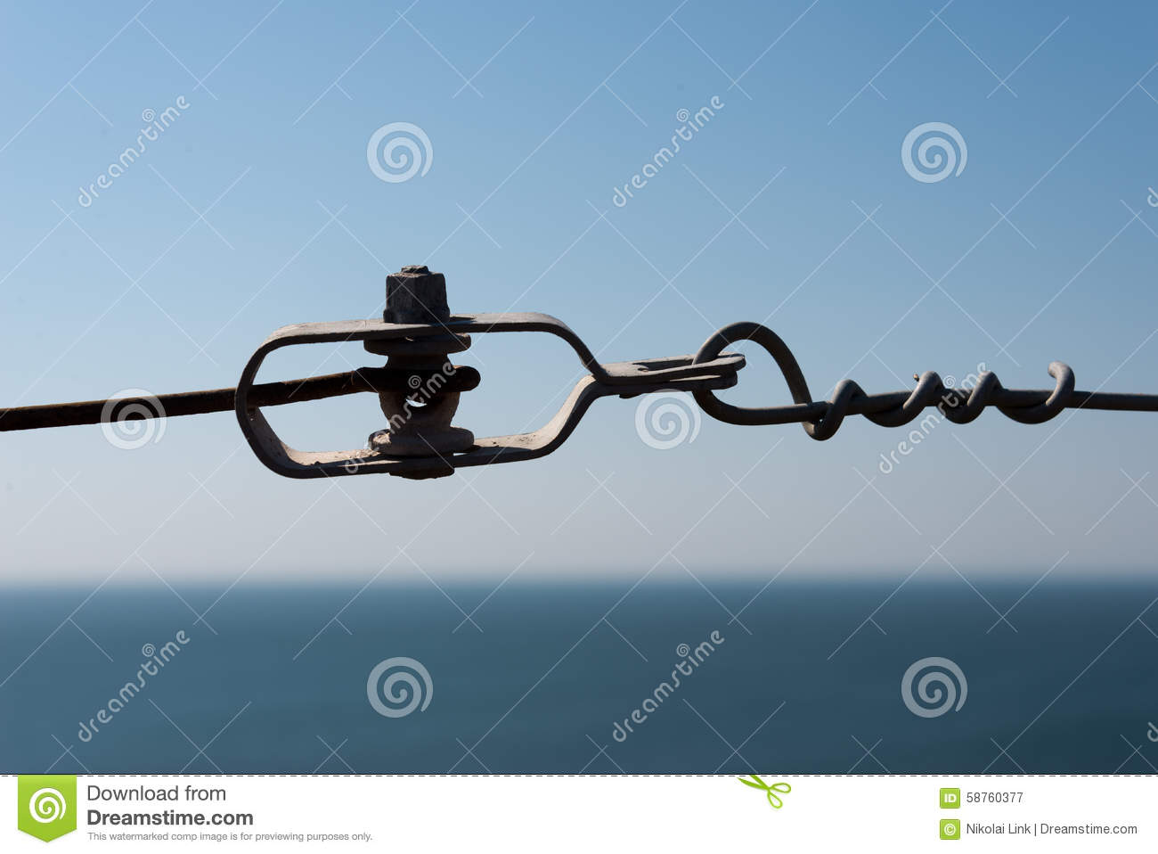Wire Tensioner Stock Photo.