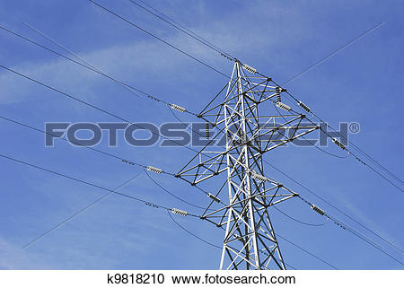 Stock Photography of High Tension Wires k9818210.