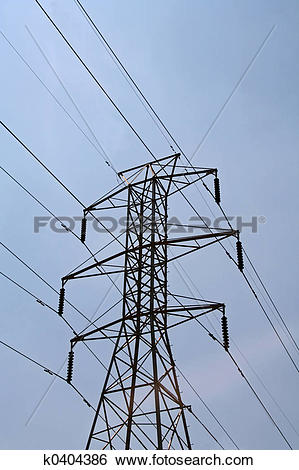 Stock Images of High Tension Wires k0404386.