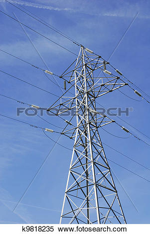 Stock Image of High Tension Wires k9818235.