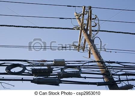 Stock Photography of High Tension Wires.