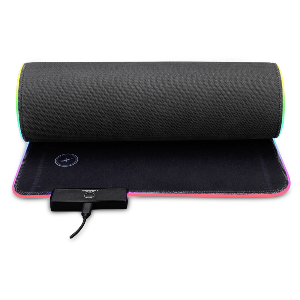 Ajazz AJPADS RGB Mousepad Gaming Wired Backlight Foldable.