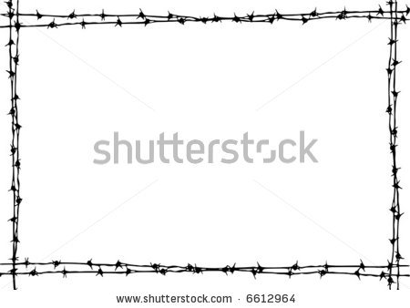 Barbed Wire Frame Clipart.