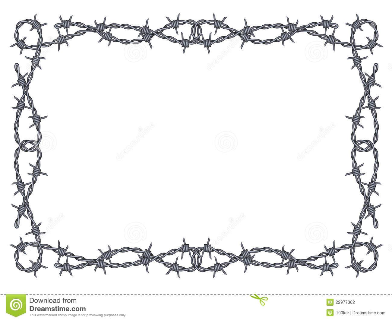 Barb wire clipart border.