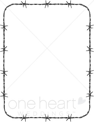 Barbed Wire Border Clipart.