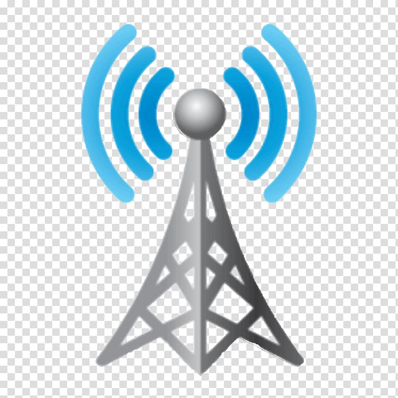 Wifi logo, Wireless Telecommunications tower Cell site.