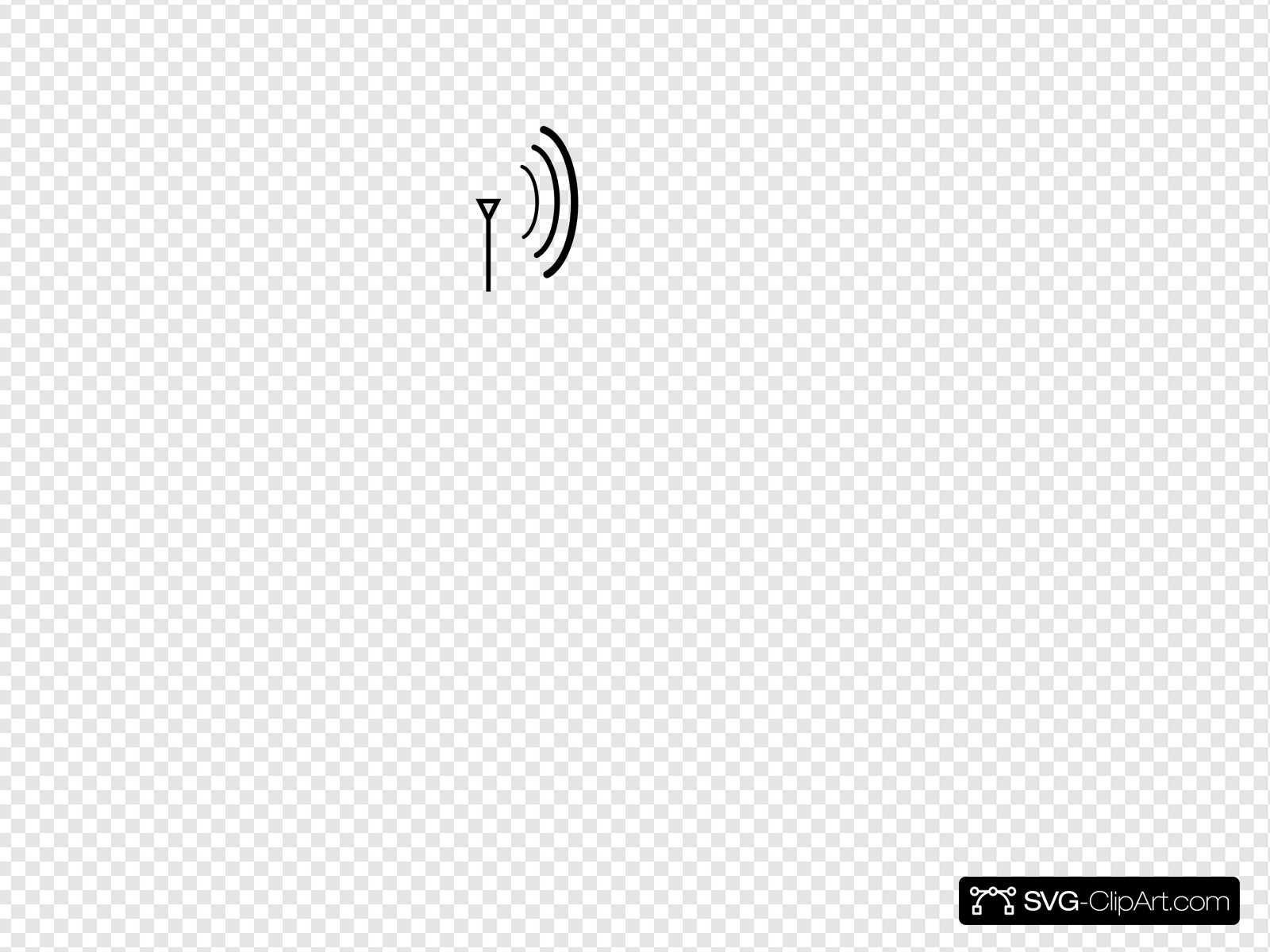 Wireless Directional Antenna Clip art, Icon and SVG.