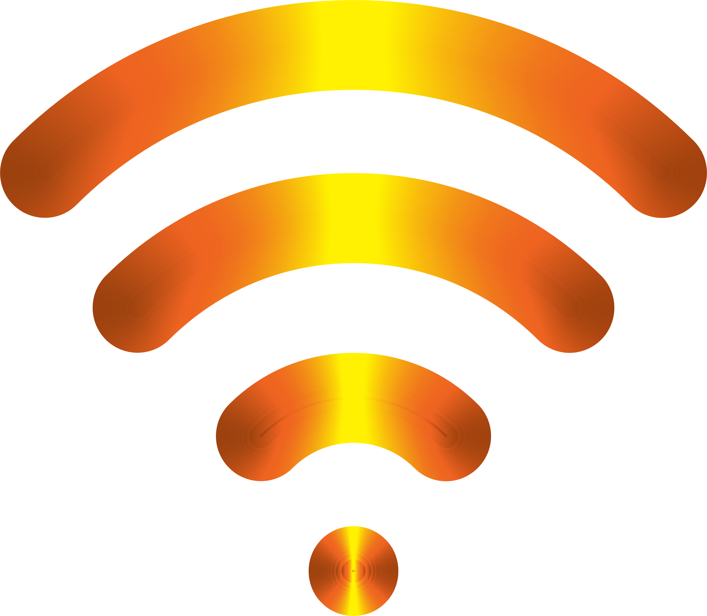 Wireless signal clipart.