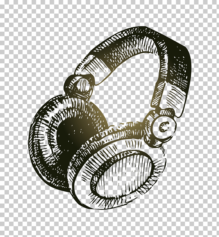 Drawing Stock illustration Illustration, Sketch Headphones.