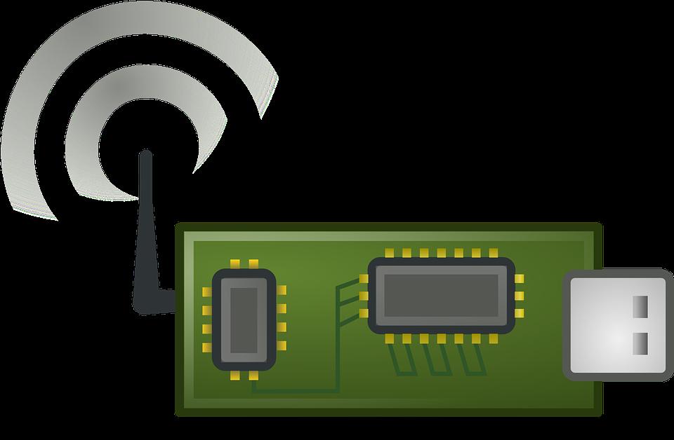 Free vector graphic: Wlan, Wireless Lan, Card, Sender.