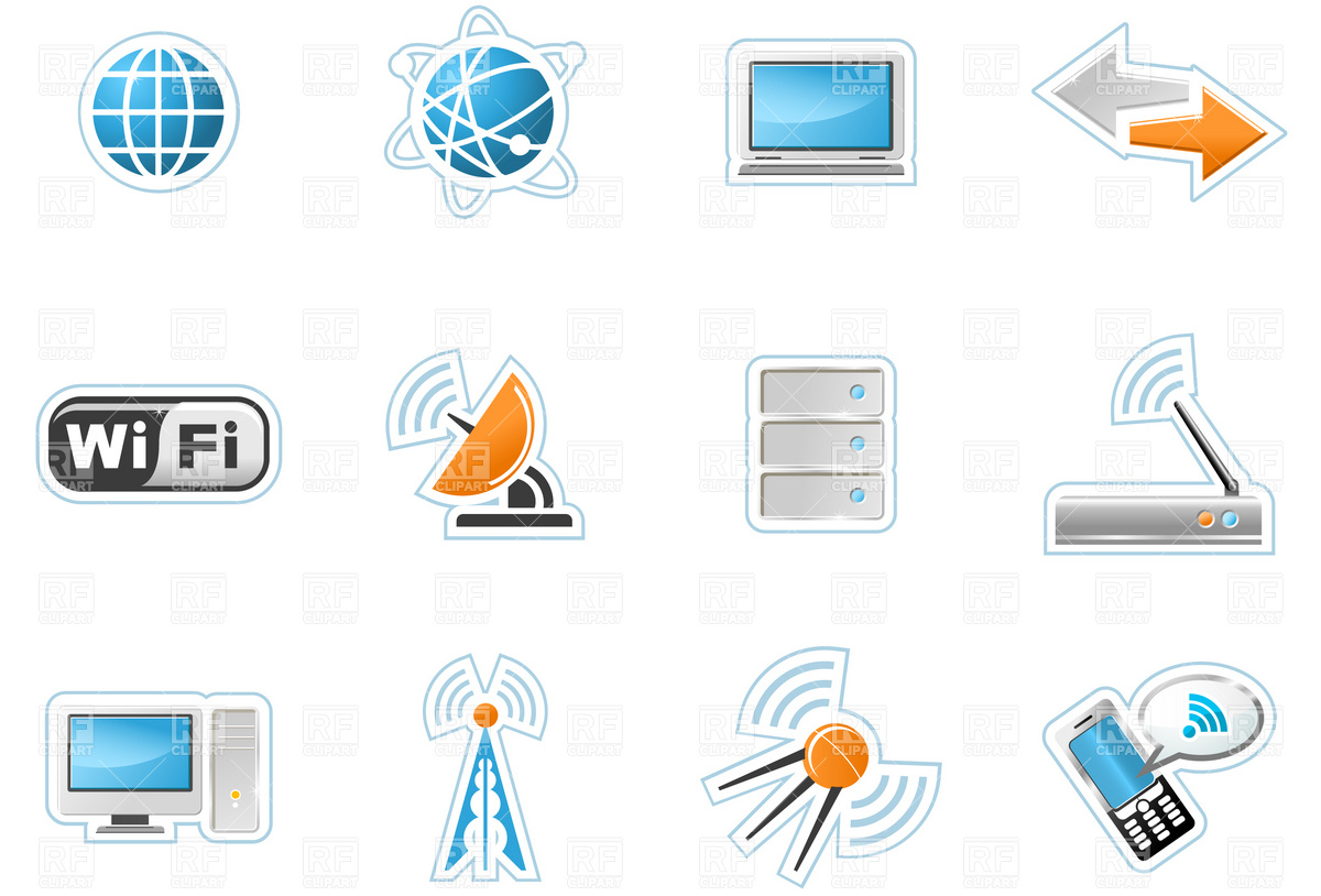 Wireless Technology icons Vector Image #4656.