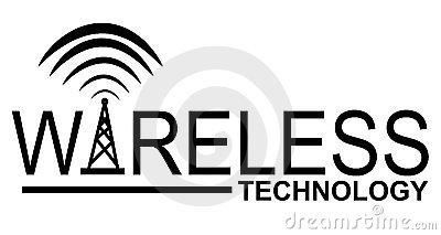 Wireless Technology Logo Royalty Free Stock Image.