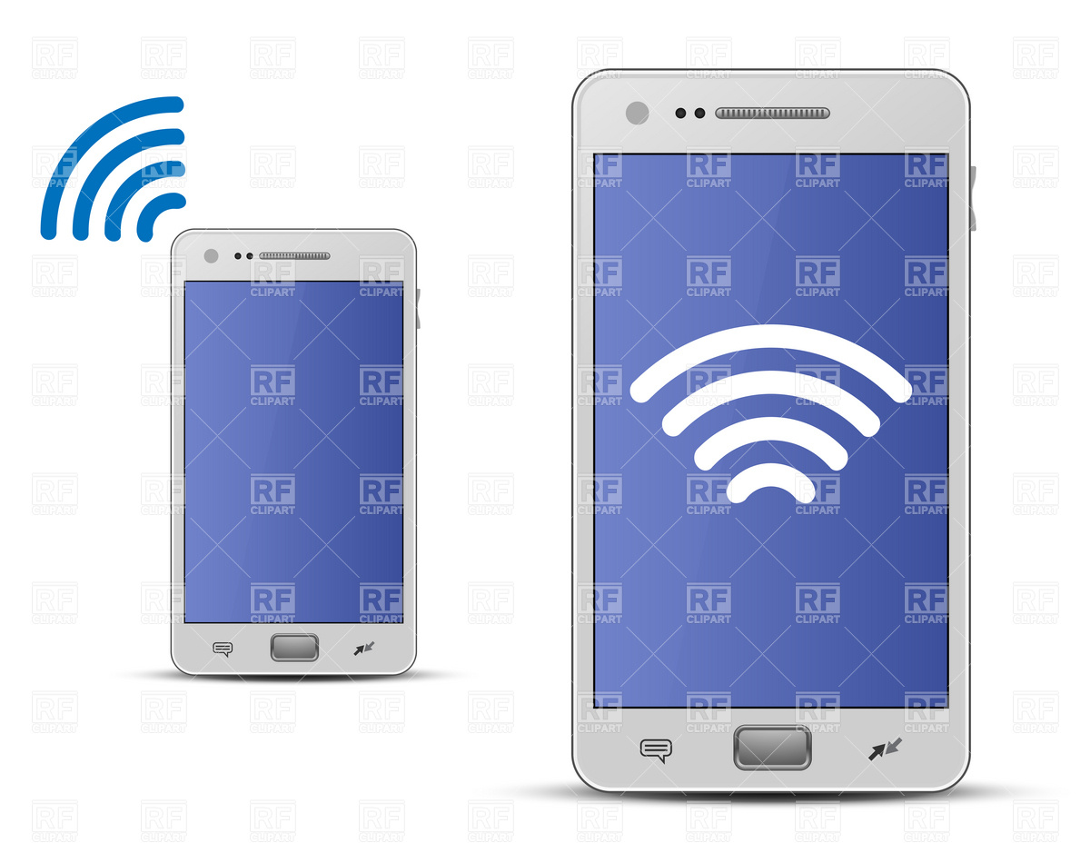 Smartphone and wireless technology Vector Image #6057.
