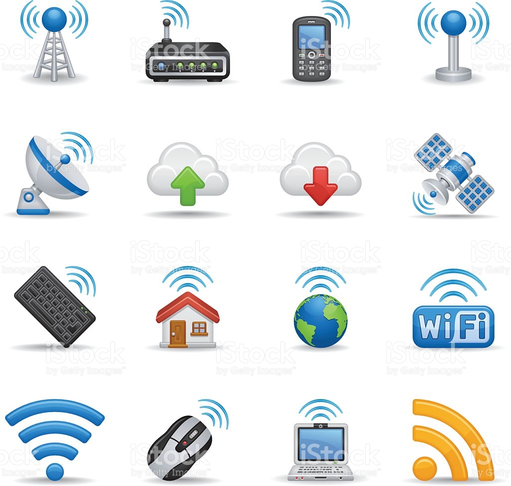 Bubble Icon Series Wireless Technology stock vector art 482883799.