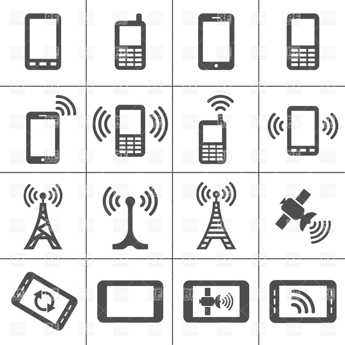 Clip Art Of Technology Devices Clipart.