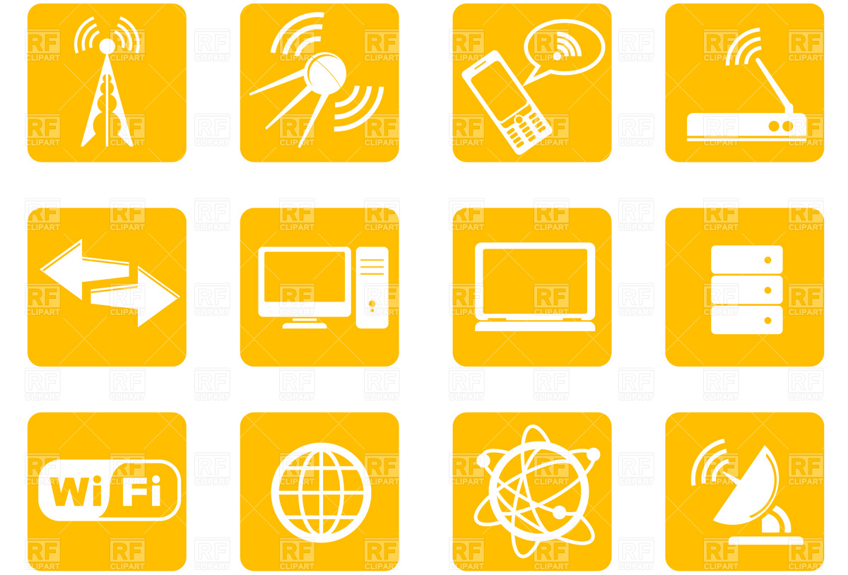 Simple Wireless Technology icons Vector Image #4657.