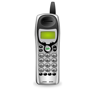 Cordless Phone (no basestation) clipart, cliparts of Cordless.