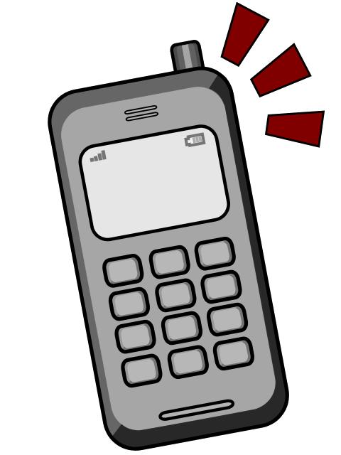 Free phone handset clip art.
