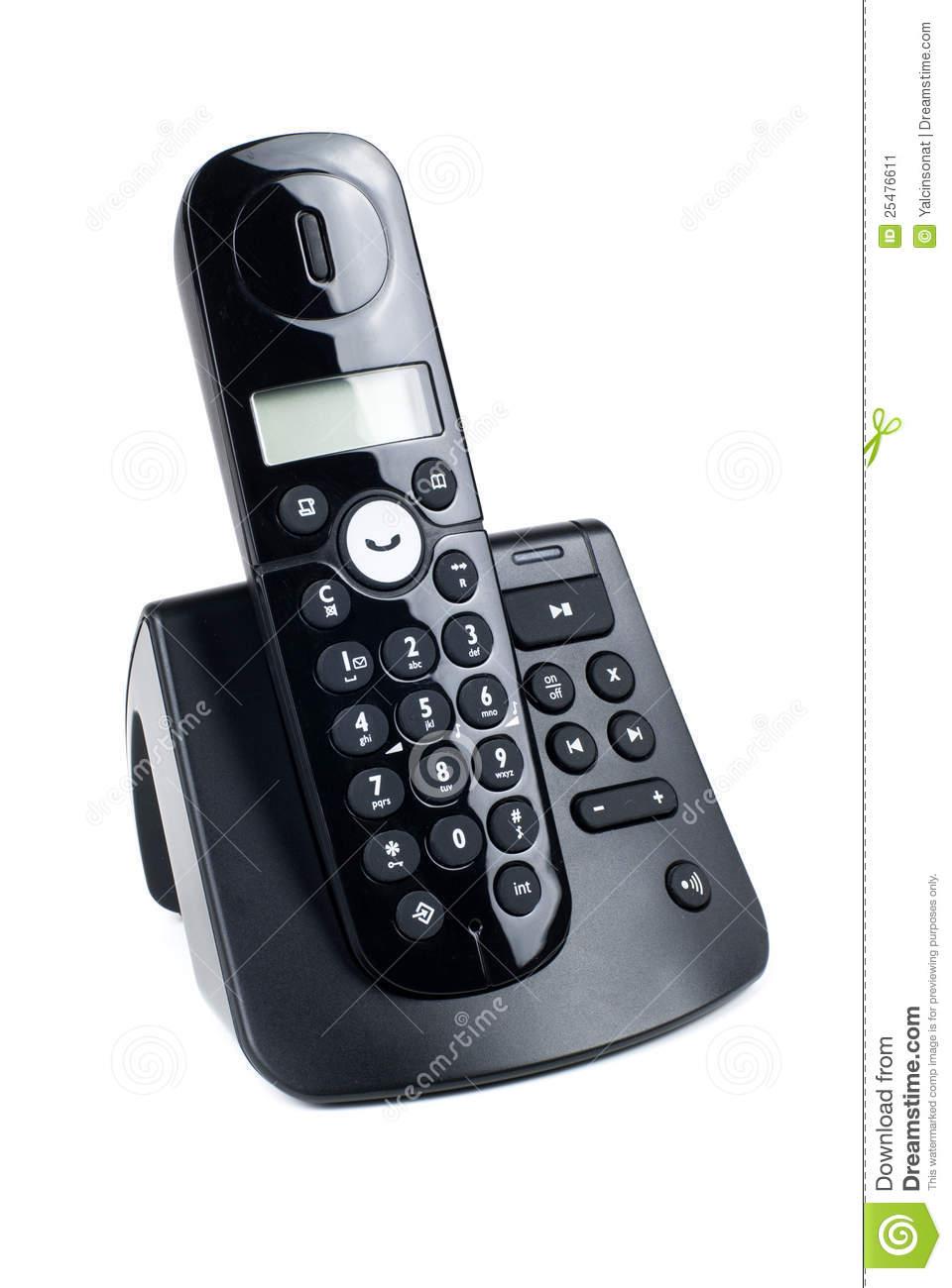 Cordless telephone clipart.