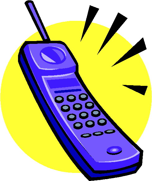 Cordless telephone clipart.