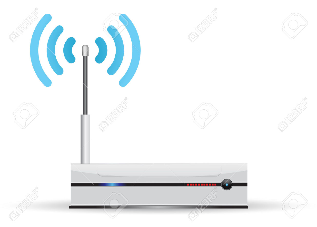 Minimalist Router, With Wireless Transmission Royalty Free.