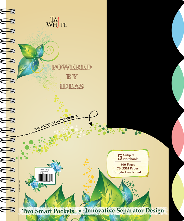 Buy online Wire o Notebook Business A4 (28 * 21 Cm) Tw 5 Subject.